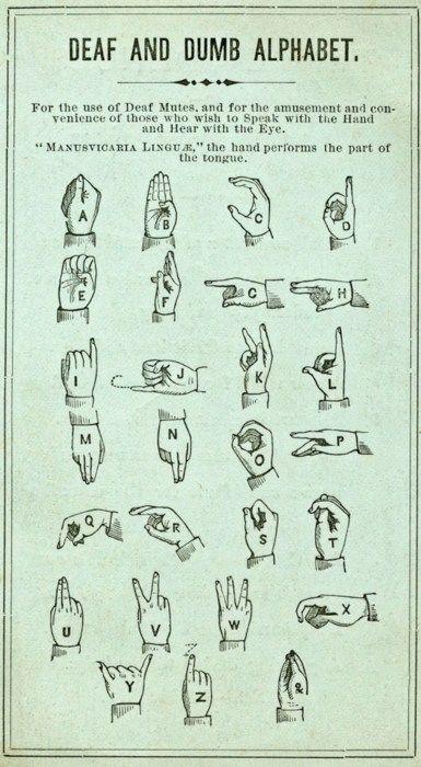 Alphabet sign language