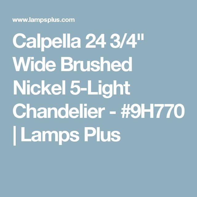 "Calpella 24 3/4"" Wide Brushed Nickel 5-Light Chandelier - #9H770 | Lamps Plus"