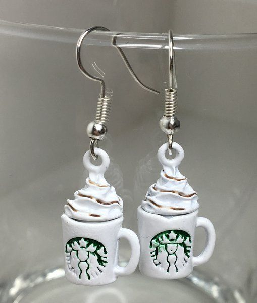 10.99$ Starbucks Coffee Earrings | Motivational Fitness Jewelry - Miss Fit Boutique