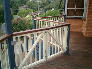 Deck Gate To Stairs Deck Designs Pinterest Deck Gate