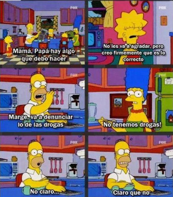 - Marge, va a denunciar lo de las drogas... → http://tvtrends.io/es