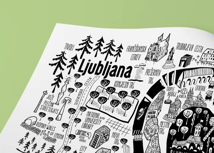 Excited to share the latest addition to my #etsy shop: Ljubljana City Map Print. City Original illustration. City Guide Map print. Maps. Slovenia. Liubliana Print. http://etsy.me/2CsV2Yw #ljubljana #slovenia #sale #travel #maps #citymaps