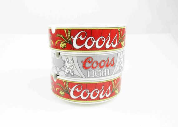 These ashtrays appear new and have the great Coors colors. Each measures 4 across and 1¼ tall and set/stack perfectly. Im happy to ship outside the United States; please convo for a mailing cost.  Thanks for thinking Retro