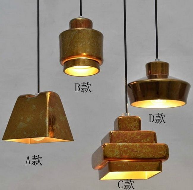 American Countryside A/B/C/D Vintage Style Chandelier Scrap Metal Glass Lamp Bar Decoration Living Room Light  Free Shipping #Affiliate