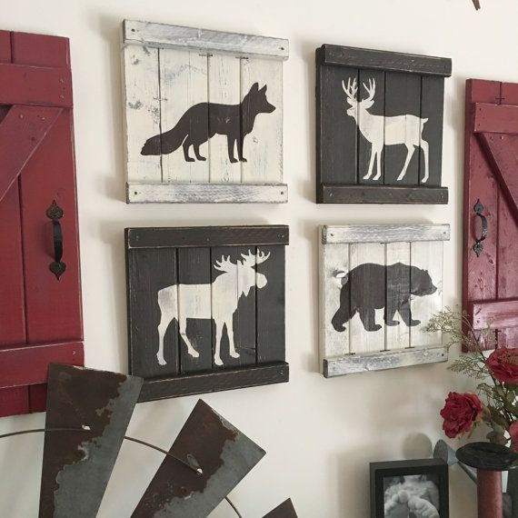 Wouldn't these rustic woodland animals look so cute in a nursery? You even get to pick your own color scheme! Love them!