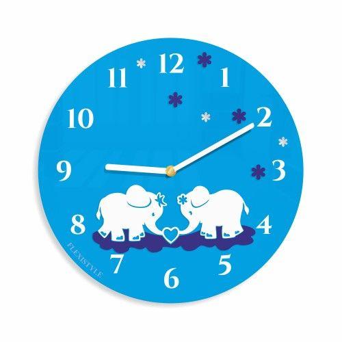 Detské hodiny s motívom sloníkov