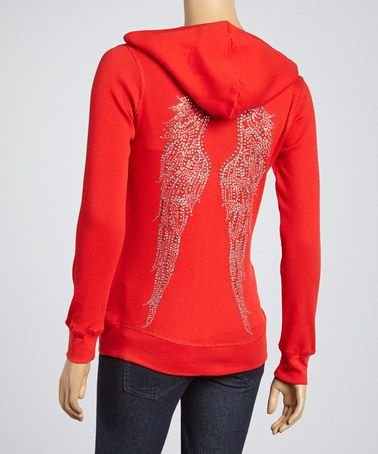 This Red Wings Zip-Up Hoodie is perfect! #zulilyfinds