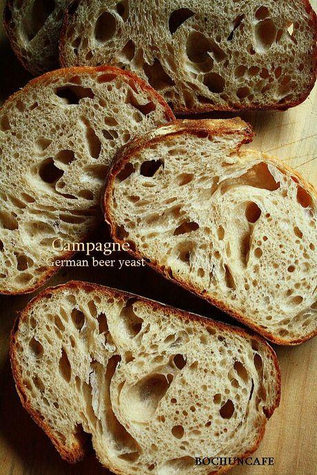 ドイツビール酵母のパン、焼けました^^: カンパーニュ ガレットデロワ バゲット 自家製酵母手作りパンレシピ カンパーニュはフランス語で田舎パン