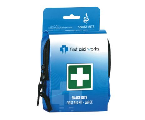 Buy Snake Bite First Aid Kit – Large at $55.45 from Priority First Aid. The kit contains easy to use treatment instructions for prompt treatment of snake bite and shock. Visit https://priorityfirstaid.com.au/shop/first-aid-kits/snake-bite-kit-2/ for more details.
