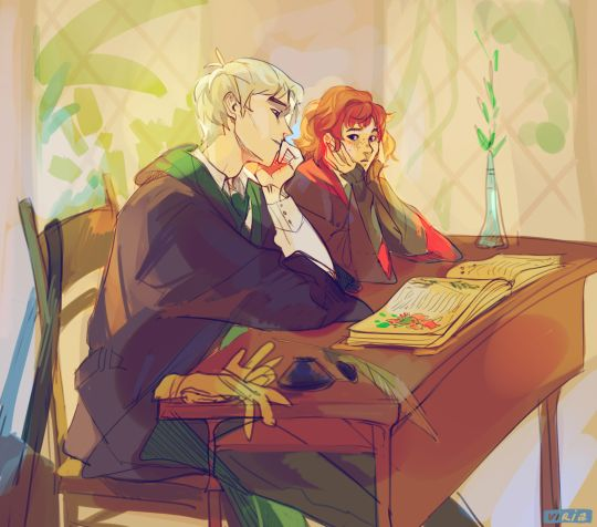 Scorpius and Rose by viria