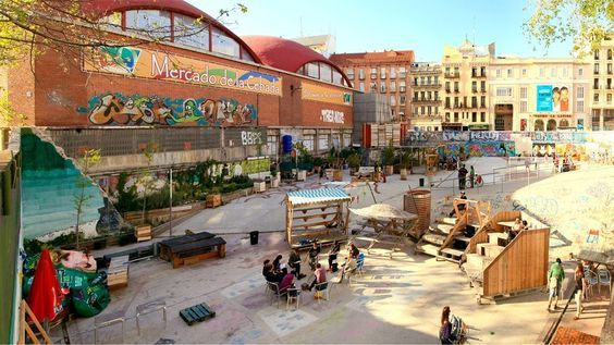 of dining in Madrid, and some are more popular with touriststhan others. Among the most local is the Mercado de la Cebada in La Latina. Besides plenty of food stalls, there's an outd