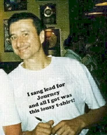Steve Perry.. (family name was changed from Pereira to Perry by father of Steve) .Love this shirt  : )