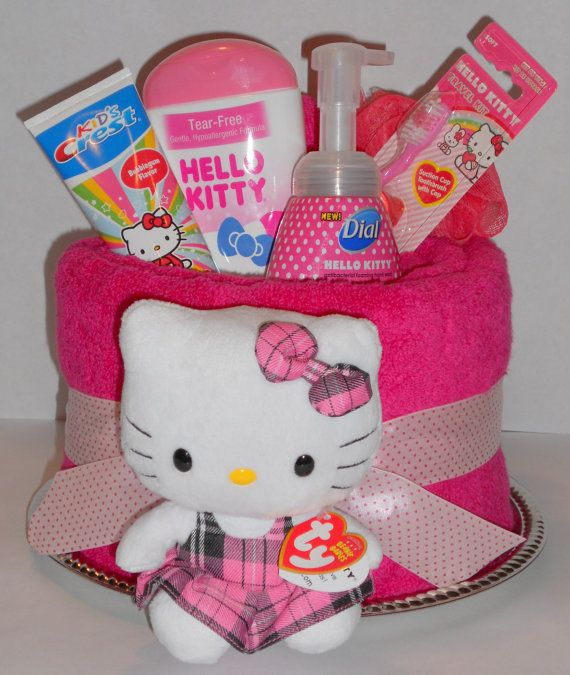 Hey, I found this really awesome Etsy listing at https://www.etsy.com/listing/176524397/hello-kitty-towel-cake