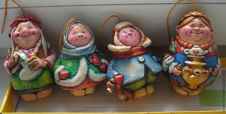 Папье-маше, авторская игрушка, елочная игрушка