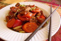 Sauté asiatique pour soirée pressée des banlieusardises: saveur orange ou coco cari