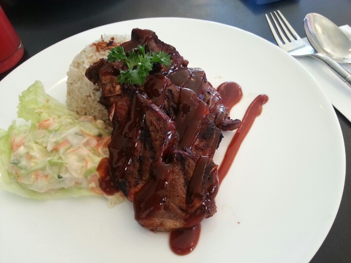 Twelve Cafe's Bbq lamb chop