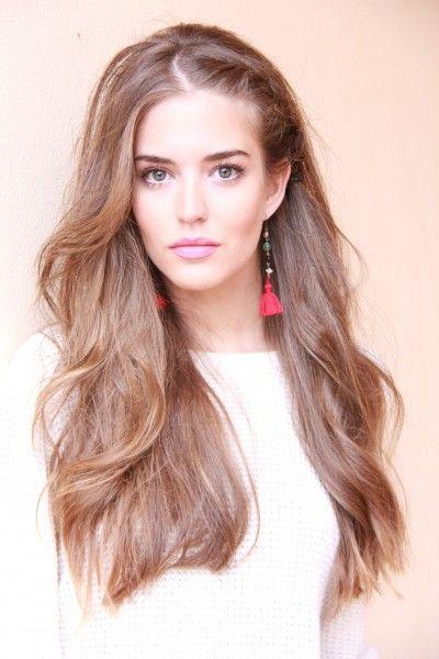I like it!Hair Colors, Hair Repair, Dreams Hair, Long Hair Dos, Nature Makeup, Growing Hair, Makeup Looks, Hair Style, Side Braids
