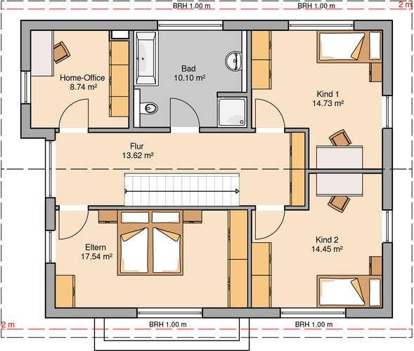 8 besten grundriss gerade treppe bilder auf pinterest. Black Bedroom Furniture Sets. Home Design Ideas