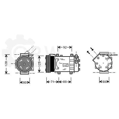 Compressor Air Conditioning Renault Kangoo Express FC0/1_