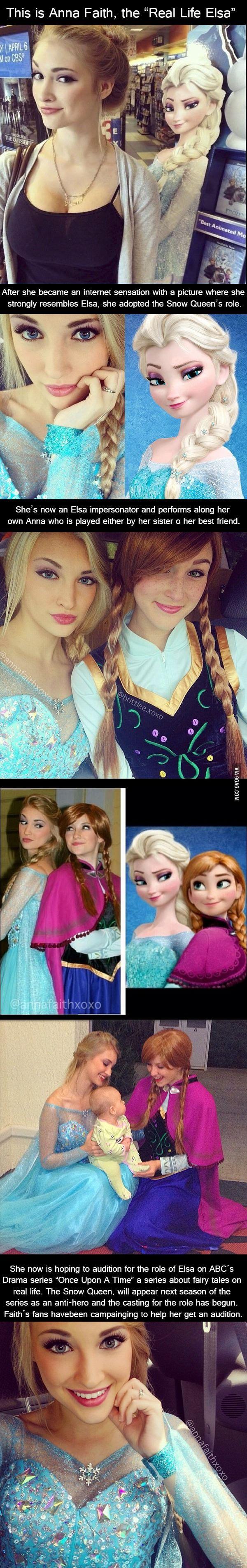 Meet The real life version of Elsa.