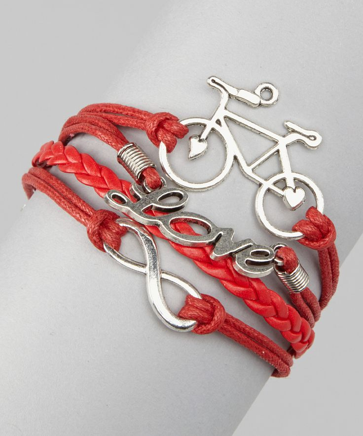 Red 'Love' Cord Bracelet