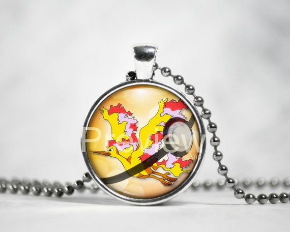 Moltres Pokemon Pendant Pokemon Necklace with by PokemonyByAnn
