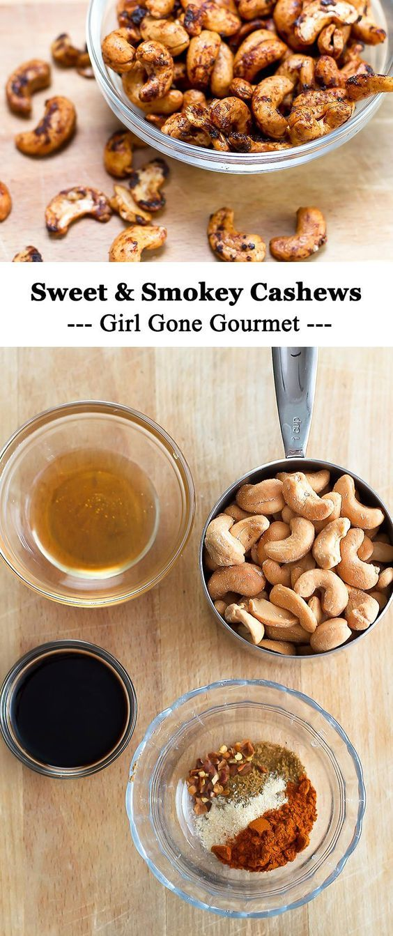 These sweet and smokey cashews are the perfect ice-cold beer companion | girlgonegourmet.com