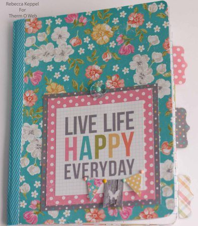 Simple Stories - Vintage Bliss Collection - Altered Composition Book by Rebecca Keppel