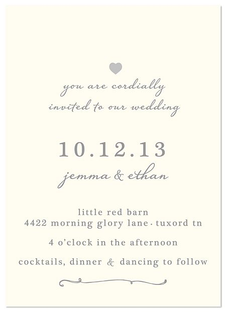 Wedding Invitations - super simple and classy