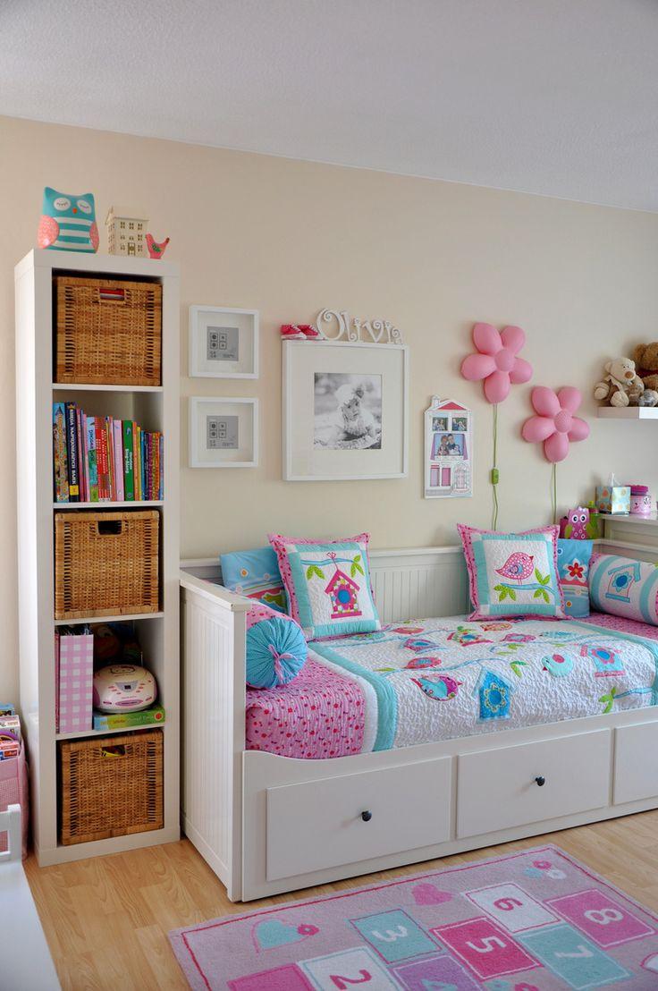 Wnętrza, Olivkowy pokój - Oto pokój naszej 4,5 letniej córci Olivii. Niedawno stała się posiadaczką dużego łóżka, gdyż już za kilka tygodni zostanie starszą...