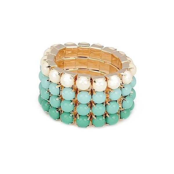 Amazon.com: The Leighton Beach Bracelet (Montego Bay Mint): Jewelry ($14) via Polyvore