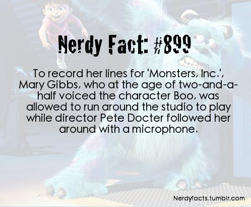 Cool Monsters Inc. fact. I bet that guy earned his pay each day doing that. ..