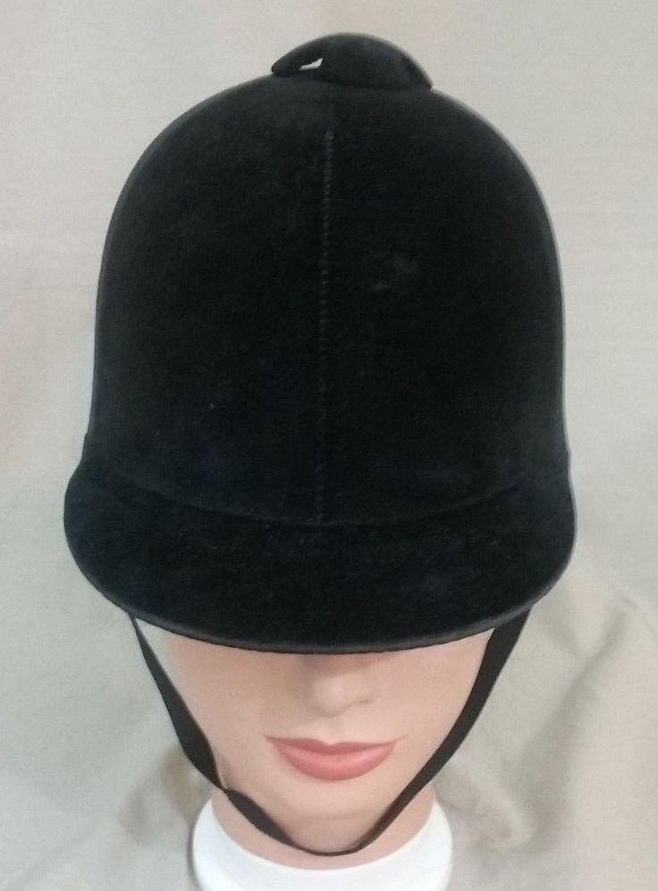 Vintage Equestrian Horse Riding Hat Eastern Western Shop USA Black Velvet Size 7 #EasternWesternShop