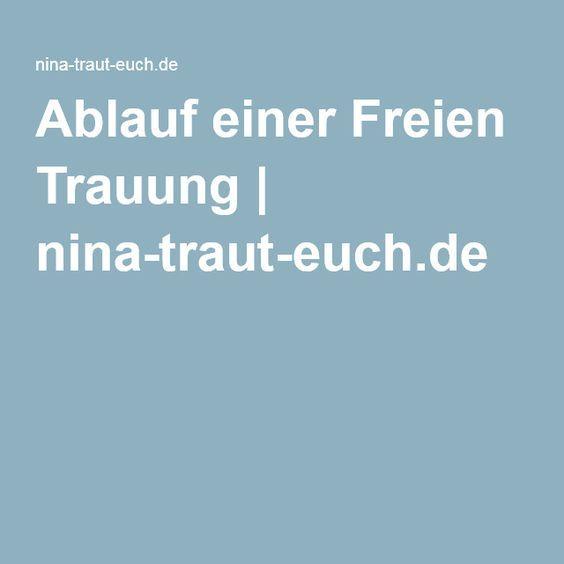 Ablauf einer Freien Trauung | nina-traut-euch.de