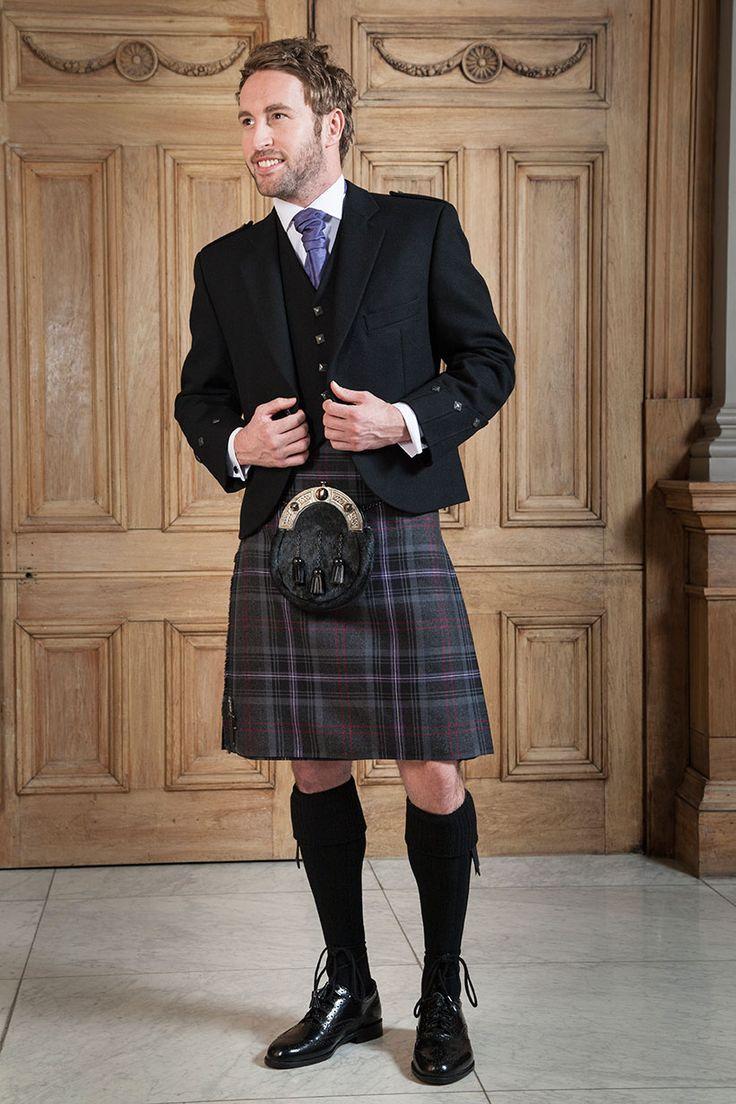 Planning a Wedding in Scotland? New Scottish Spirit Tartan Kilt to Hire from Slaters Prestige Range // Slaters Highland Hire Collection // Men in Kilts