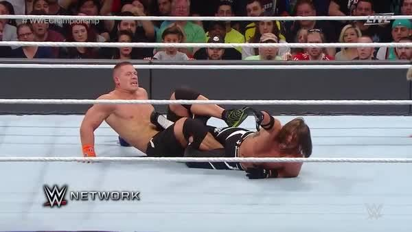 John Cena using Ric Flair, The Nature Boy's Figure-Four Leglock?!? Will he defeat AJ Styles and become a 16x World Champion TONIGHT at WWE Royal Rumble?