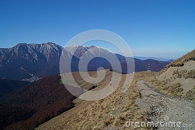 View from the Baiului Mountains, Romania