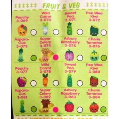 Shopkins love fruit amp veg is category 5 on checklist shopkins