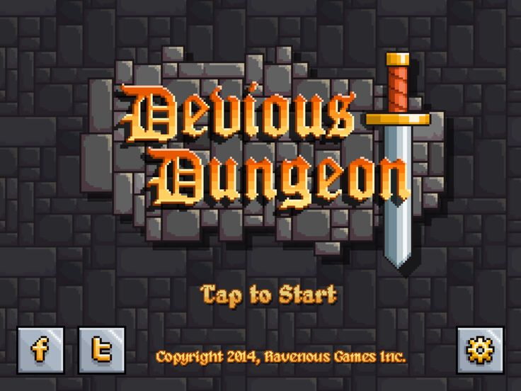 Devious Dungeon - Game Title