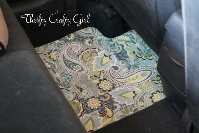 Add some color to your floor mats with this DIY car floor mat project.