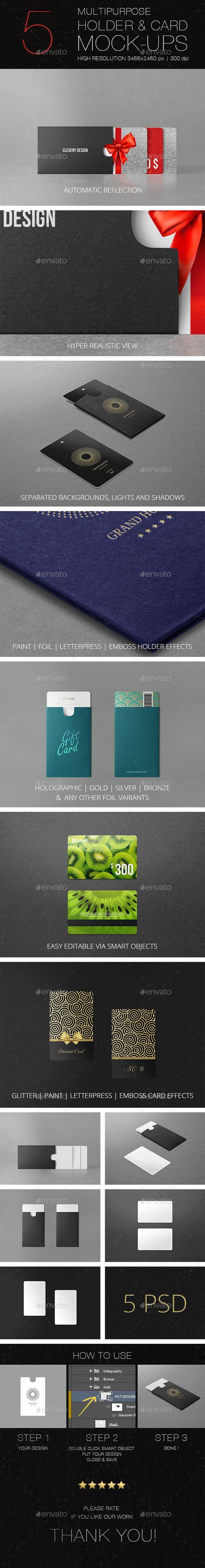 Multipurpose Holder & Card Mockup. Download here: https://graphicriver.net/item/multipurpose-holder-card-mockup-vol-10/17367689?ref=ksioks