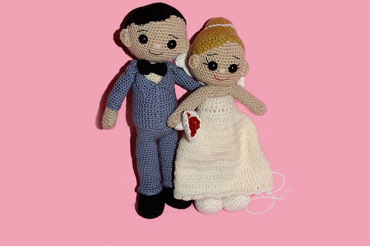 Amigurumi Bride and Groom Amigurumi Gelin Damat Crocheted toys