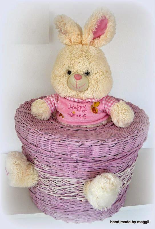 Hand made by Maggii: Różowy kosz i króliczek