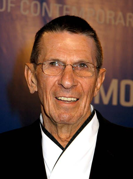 Leonard Nimoy during The Museum Of Contemporary Art Celebrates 25th Anniversary - Arrivals at MOCA at the Geffen Contemporary in Los Angeles, California, United States.