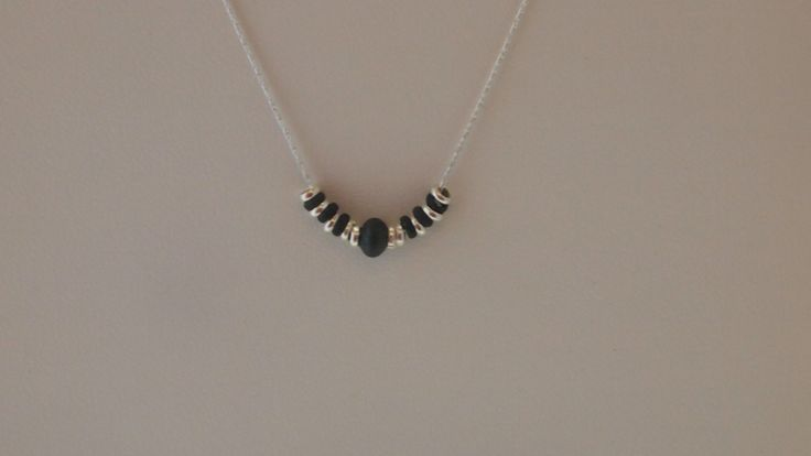 Sterling Silver Chain Necklace  With Oxidized Sterling Silver  (Black) by MLJewelryCreations on Etsy