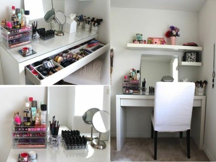 fabulous ides de rangement makeup en photos et vidos with commode maquillage. Black Bedroom Furniture Sets. Home Design Ideas