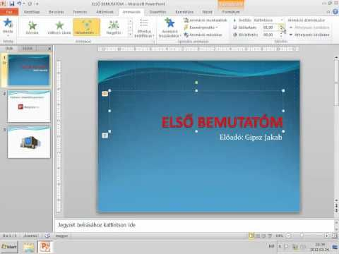 PowerPoint2010 - Animációk - YouTube