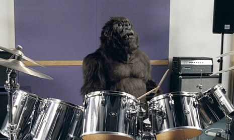 A still from the Cadburys Dairy Milk Gorilla ad