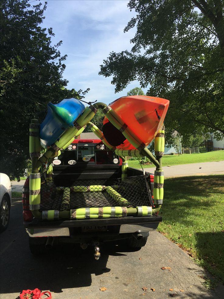 Diy Pvc Kayak Rack Diy Projects Kayaking Gear Kayak
