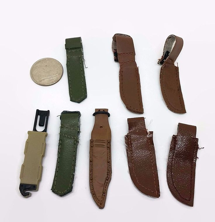 """12"""" Military Action Figure knife sheaths lot of 8 Toy Doll Weapon Accessories  #Action"""